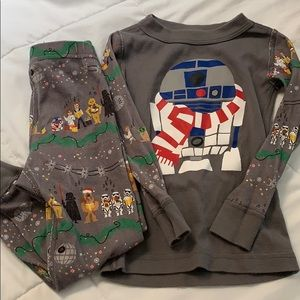 Hanna Andersson Star Wars R2D2 Holiday Long Johns